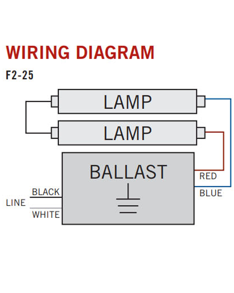 Electronic Ballast Accupro 1 Or 2 Lamp T8 Ap Rs 232is 120 Orilis 3 Wiring Schematic Led Lighting Solutions