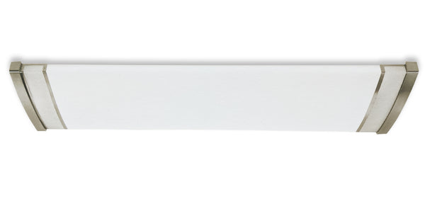 4FT 52W Dimmable LED Brushed Nickel Kitchen Ceiling Fixture - 4000K - DLC & UL Listed