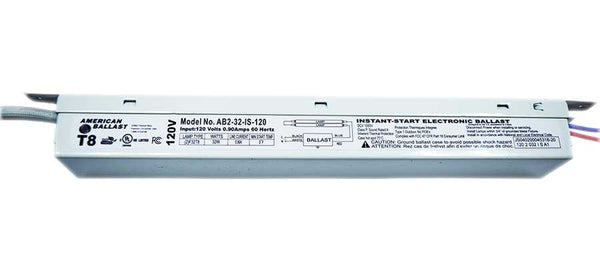 American Ballast 1 or 2 Lamp T8 Instant Start Electronic Ballast Model AB2-32-IS-120 - ORILIS LED LIGHTING SOLUTIONS
