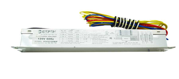 Espen 3 or 4 Lamp Electronic Ballast Model VE432120MIP - ORILIS LED LIGHTING SOLUTIONS