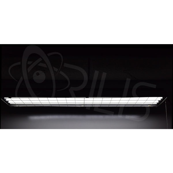 4 Ft. 96W Grey Light Hanging Plugin Shop Light Fixture + (4) LED T8 Tubes - ORILIS LED LIGHTING SOLUTIONS