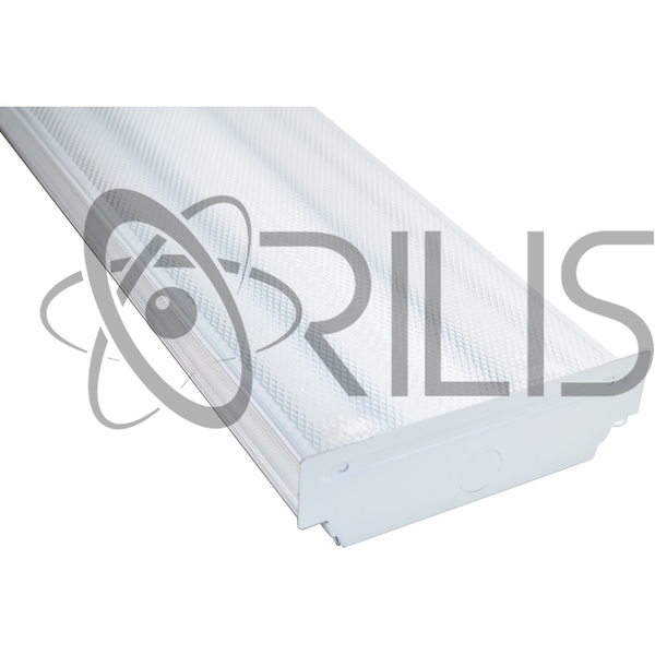 4 Ft. White Modern Flush Mount Hardwired Wraparound Fixture + (2) T8 LED Tubes - ORILIS LED LIGHTING SOLUTIONS