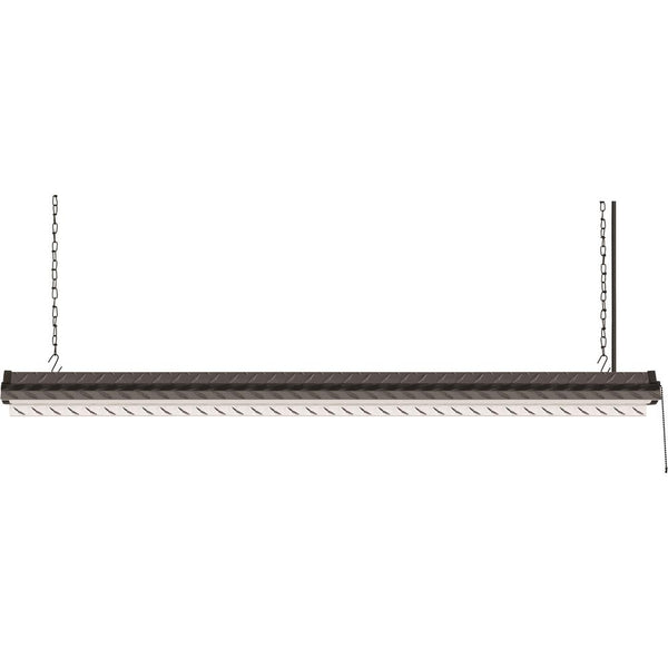 4 ft. 40W Black Diamond Plate Integrated LED Linkable Shop Light 4000K - ORILIS LED LIGHTING SOLUTIONS