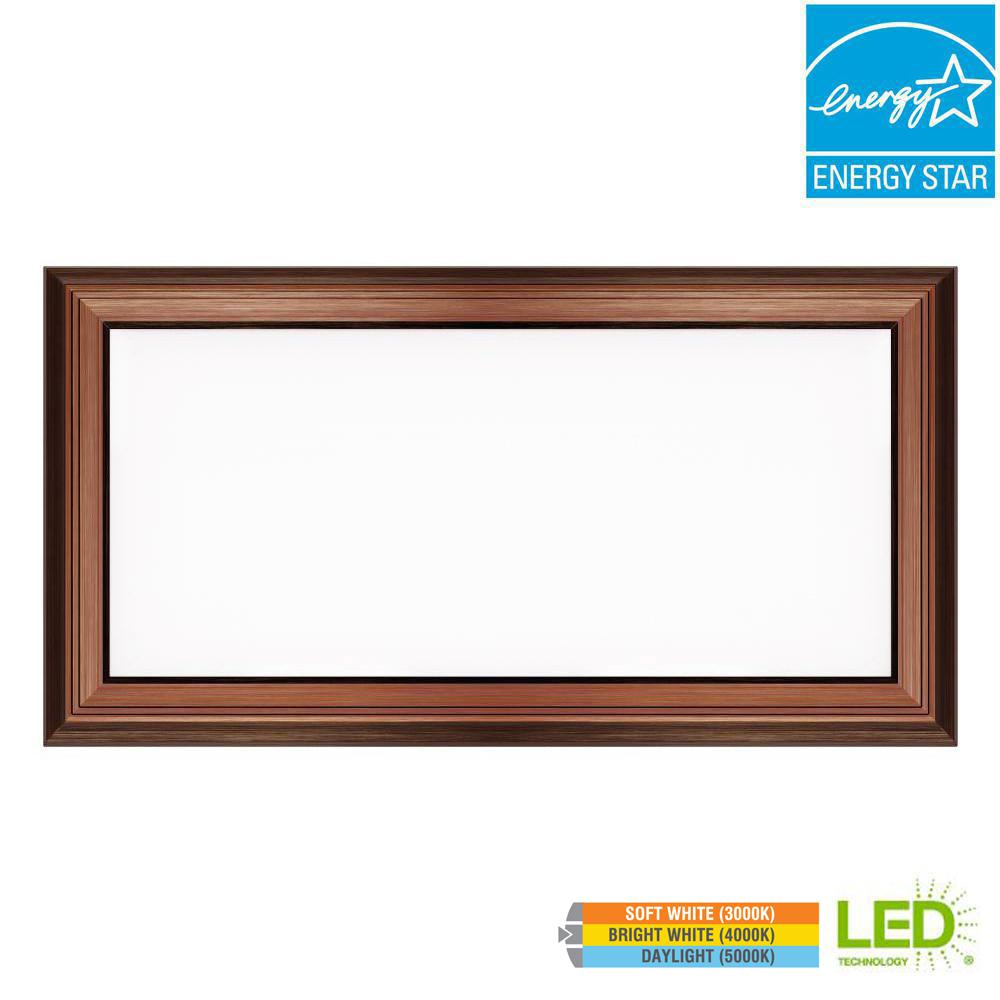 1 Ft X 2 Ft Led 24w Dimmable Color Changing Flat Panel