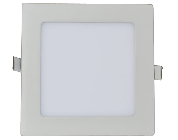 White 18 Watt 9 Inch Indoor Square Recessed LED Panel Light- 4000K - ORILIS LED LIGHTING SOLUTIONS