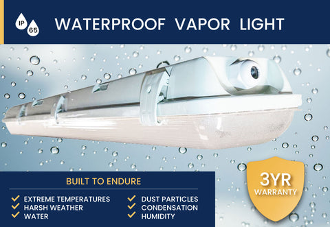 Weatherproof Vapor Tight LED Commercial Lighting from Orilis LED Lighting Solutions