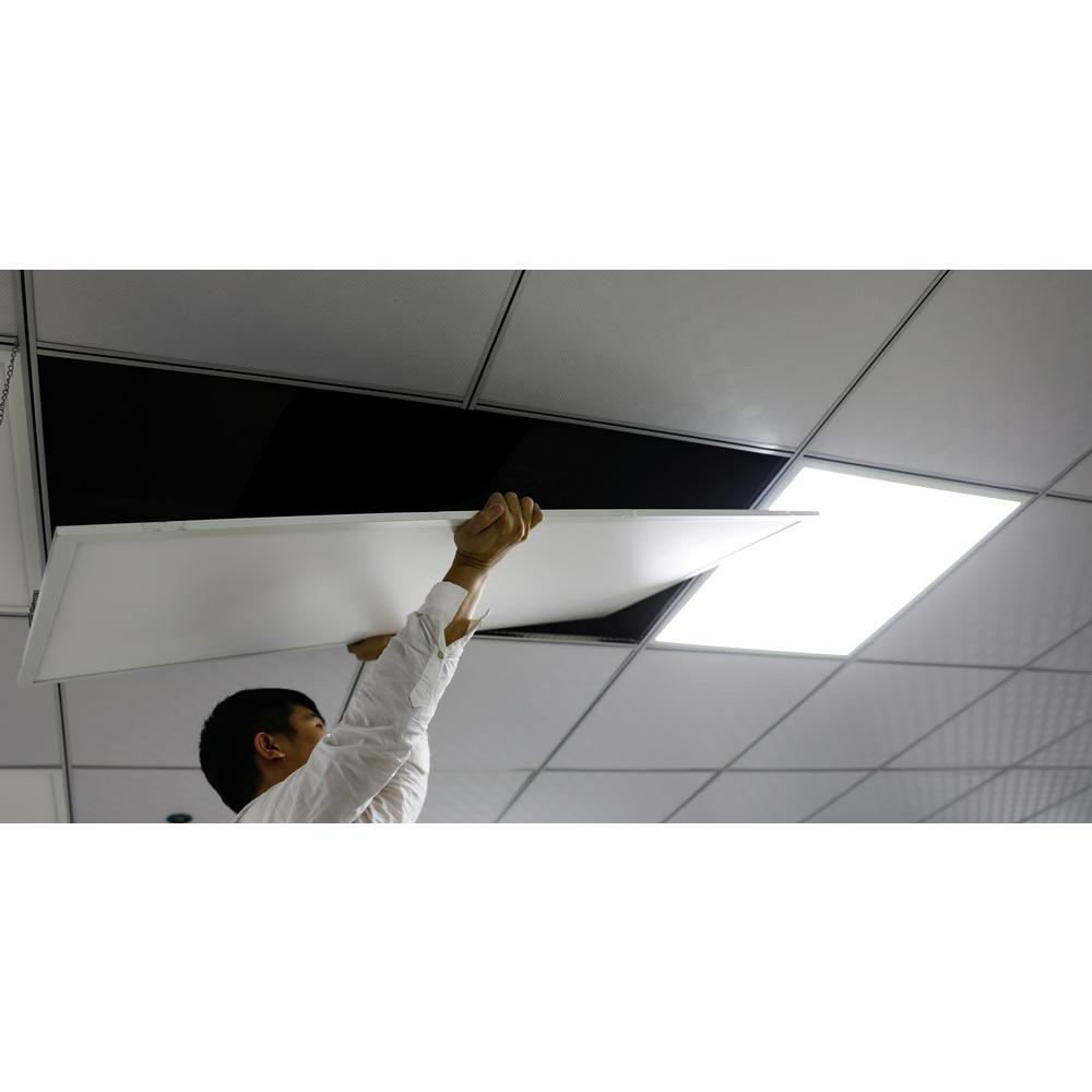 (10 Pack) 2 Ft x 4 Ft Integrated Edge-Lit LED 50W Dimmable Flat Panel  Troffer- 5000 Lumens