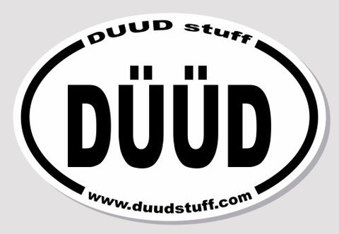 DUUDstuff.com sticker to benefit Ocean Cleanup