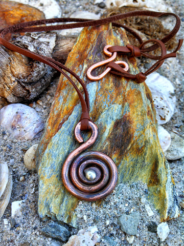 G Clef-Musician Copper Necklace - Music Themed EcoFriendly Pendant Necklace