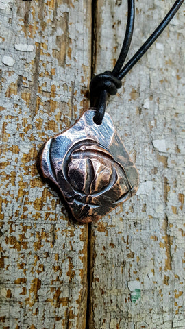 HOOP DREAMS-Men's Abstract Basketball pendant necklace-hammered copper aged patina