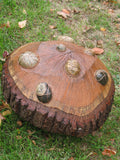 THREE SISTERS Outdoor Wood-Stone Sculpture - Medium-Scale Outdoor Sculpture