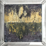 Urban Energy, small abstract expression painting-frame under $200