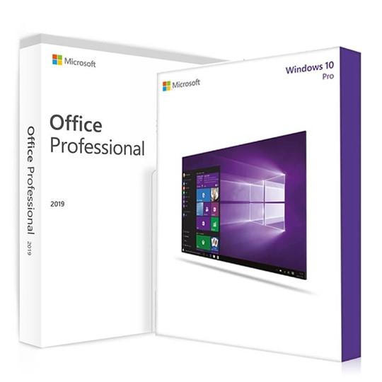 Genuine Microsoft Windows 10 Professional + 🔥Office Professional plus 2019 Bundle - Legit Key Solution