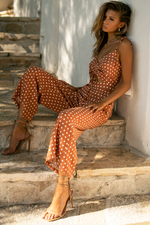 Load image into Gallery viewer, Emilia Jumpsuit - Rust Spot