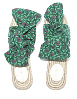 Load image into Gallery viewer, Green Shwe Bow Espadrilles
