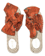 Load image into Gallery viewer, Orange Shwe Bow Espadrilles