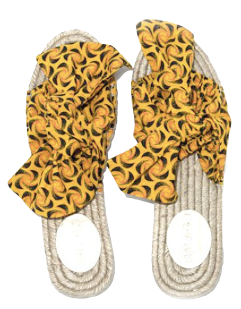 Yellow Shwe Bow Espadrilles