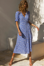 Load image into Gallery viewer, Meadow Dress - Blue Floral