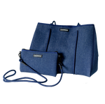 Load image into Gallery viewer, Denim Neoprene Tote