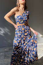 Load image into Gallery viewer, Elena Set - Navy Floral