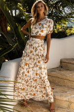 Load image into Gallery viewer, Elena Maxi Skirt - White Floral