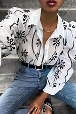 Load image into Gallery viewer, Elise Blouse - Black & White