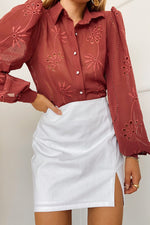 Load image into Gallery viewer, Elise Blouse - Tobacco
