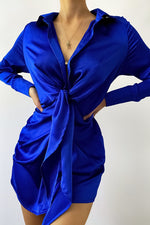 Load image into Gallery viewer, Ruby Shirt Dress - Royal Blue