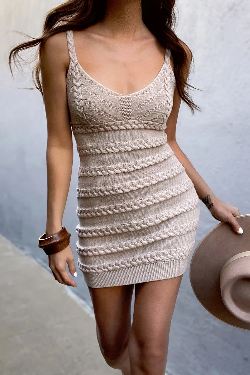 Dukes Mini Dress - Sand