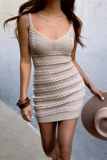Load image into Gallery viewer, Dukes Mini Dress - Sand
