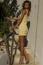 Load image into Gallery viewer, Dukes Mini Dress - Lemon