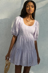 Knowles Babydoll Dress - Lilac