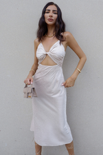Load image into Gallery viewer, Verse Slip Dress - Champagne