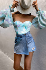 Load image into Gallery viewer, Seabreeze Bodysuit - Sky Blue