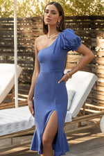 Load image into Gallery viewer, Trisha Midi Dress - Blue