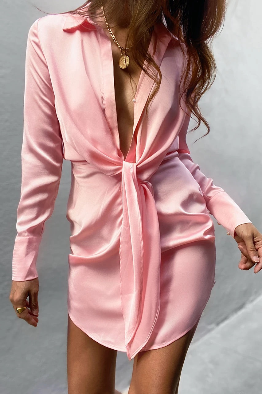 Ruby Shirt Dress - Blush