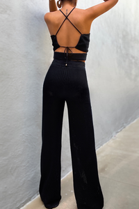 Jordina Knit Pants - Black