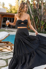 Load image into Gallery viewer, Ayla Maxi Skirt - Black