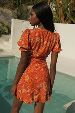 Load image into Gallery viewer, Holly Mini Dress - Rust Floral