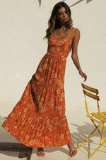 Load image into Gallery viewer, Holly Maxi Dress - Rust Floral