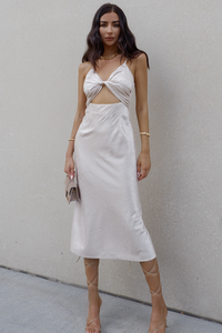 Verse Slip Dress - Champagne