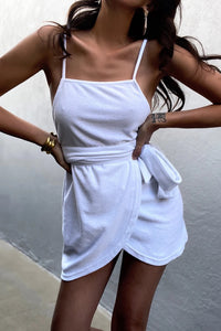 Terry Mini Dress - White