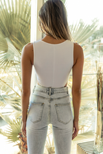 Load image into Gallery viewer, Knoxlee Bodysuit - White