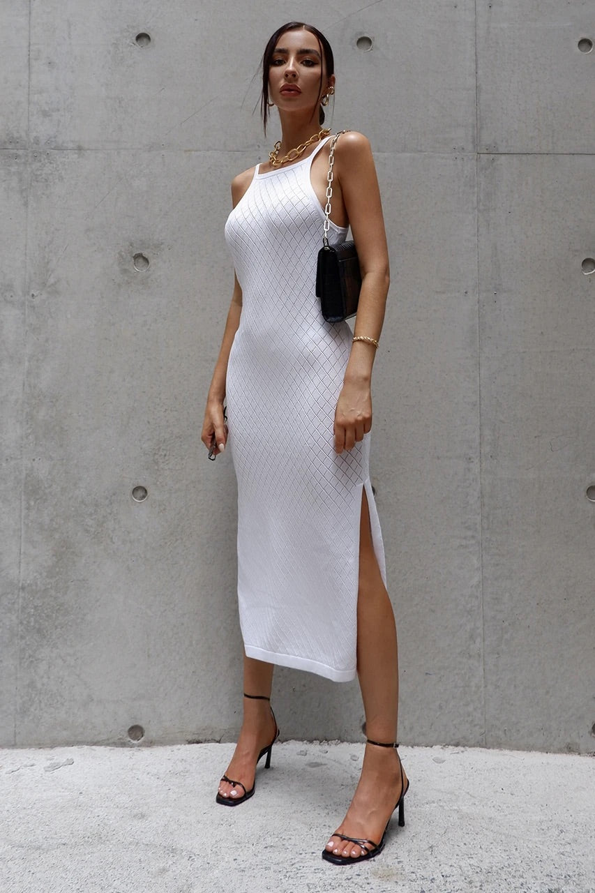 Barbados Dress - White