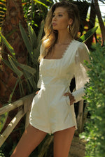 Load image into Gallery viewer, Juniper Playsuit - White