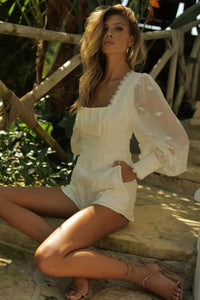 Juniper Playsuit - White