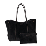 Load image into Gallery viewer, Luxe Black Neoprene Tote