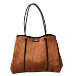 Load image into Gallery viewer, Luxe Tan Neoprene Tote
