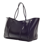 Load image into Gallery viewer, Metallic Black Neoprene Tote