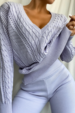 Load image into Gallery viewer, Rashida Knit Jumper - Lilac